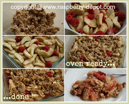 Making a Gluten Free Raspberry Crumble Dessert Recipe