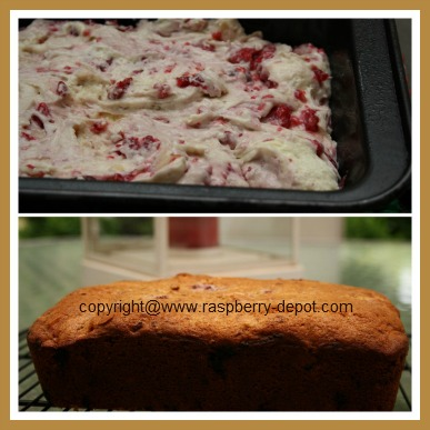 Making Raspberry Bread