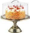 metal cake and pastry stand