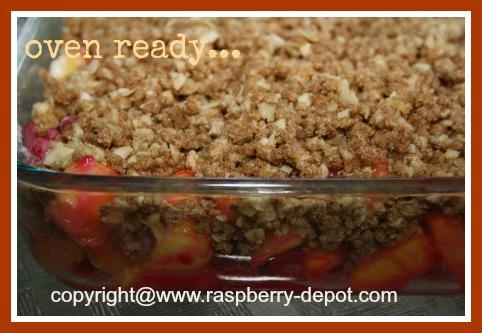 Oven Ready Peach Raspberry Crisp Recipe