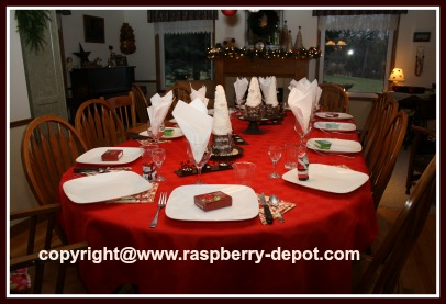 Table Set For Christmas Party