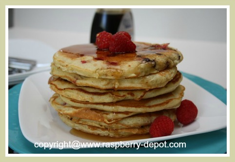 Quick and Easy Raspberry Pancakes Recipe