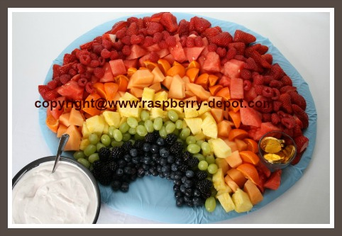 Rainbow Fruit Tray How to Make a Fruit Tray for a Shower