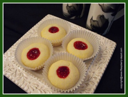 Homemade Raspberry Tarts, Raspberry Almond Tarts with Jam Centers