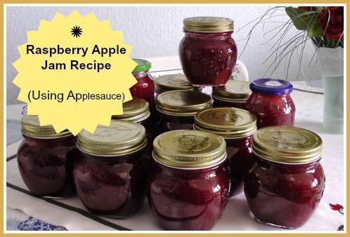 Homemade Raspberry Apple Jam - Cooked Jam using Applesauce