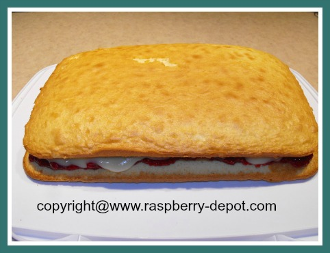 Making a Raspberry Cake using a Cake Mix, Pudding, Jam