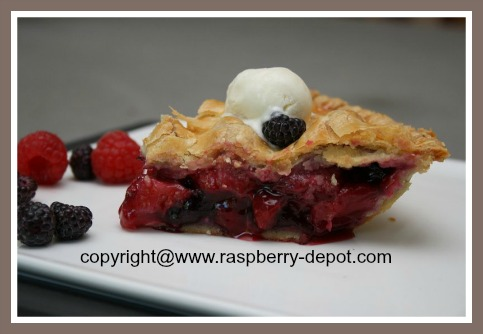 Fresh Strawberry Raspberry Blueberry Pie Recipe