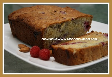 Raspberry Bread Recipe - Quick and Easy Raspberry Almond Quick Bread