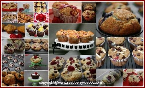 Raspberry Muffin Recipes for Red, Black, Purple, Yellow Raspberries