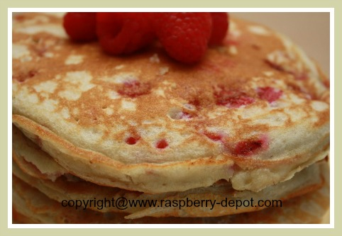 Raspberry Buttermilk Pancake Recipe