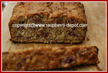 Raspberry Quick Bread Raspberry Apple Loaf