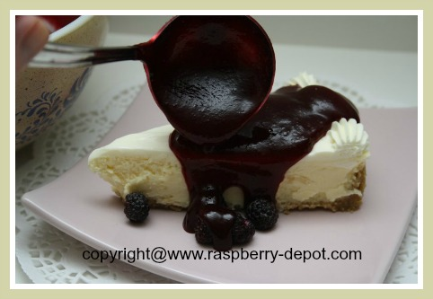 Raspberry Sauce Recipe for Cheesecake Topping