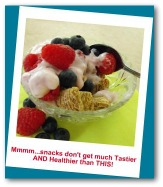 Healthy Breakfast Idea with Cereal, Yogurt and Fresh Raspberries