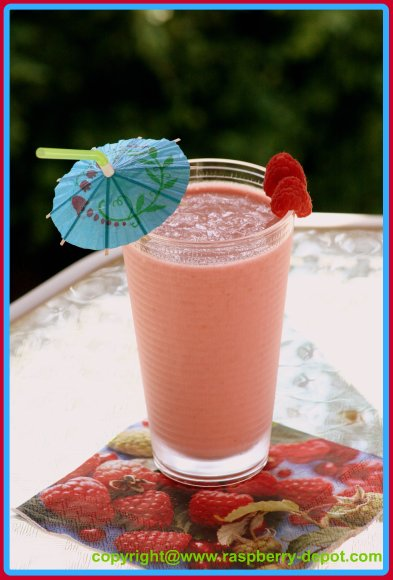 Smoothie with Pineapple and Berries and Yogurt