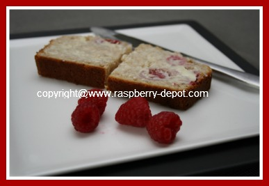 Slice of Homemade Raspberry Fruit Bread