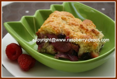 Sugar Free Mixed Berry Cobbler Dessert Image