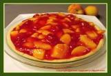 Fresh Raspberry and Peach Pie Shortbread Crust