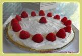 Raspberry Lemon Cream Pie with Crumb Crust