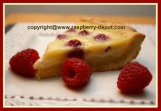 Raspberry Chocolate Custard Pie