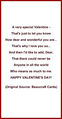 idea for valentines day card verse or poem for boyfriend or for girlfriend