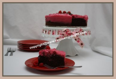 Chocolate Raspberry Cake Using a Store Purchased Cake Mix