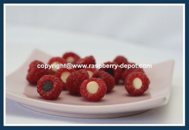 Easy Fruit Tray Decoration Idea with Raspberries and Chocolate