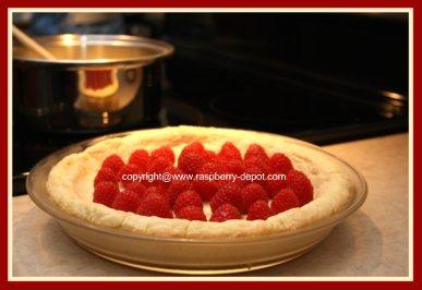 Making a Raspberry Custard Pie Recipe