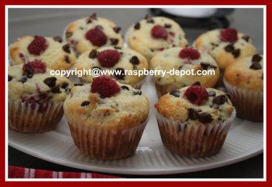 Homemade Chocolate Chip Raspberry Muffins