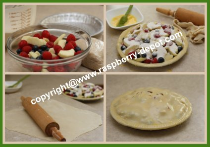 How to Make an Apple Raspberry and Blueberry Pie