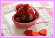 Homemade Raspberry Sauce on Ice Cream