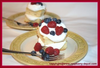 Shortcake with Raspberries and Blueberries