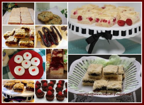 Raspberry Bars Cookies and Squares Homemade