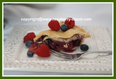Recipe for Raspberry Blueberry Apple Pie