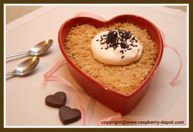 Raspberry Crisp with Oatmeal Topping made at home