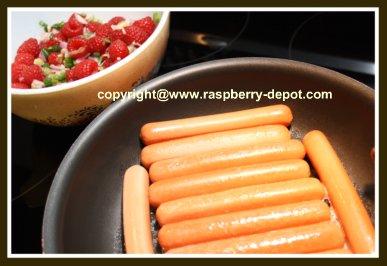 Make Homemade Raspberry Relish, Fruit Relish for Hot Dogs