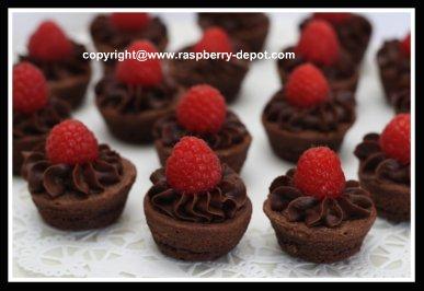 Easiest Brownie Tarts with Fresh Raspberries