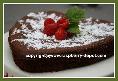 Gluten Free Chickpea Chocolate Cake Heart Shaped Valentines Day Cake