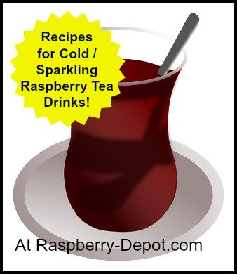 Cold and Sparkling Raspberry Tea Drink Recipes