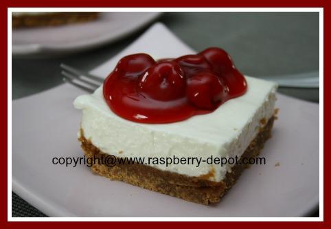 No Bake Cheesecake with a Crumb Crust