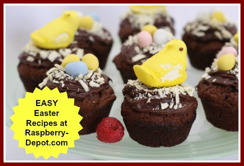 Easy Easter Recipes with Raspberries /Fruit