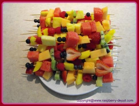 Homemade Fruit Kabobs /Skewers