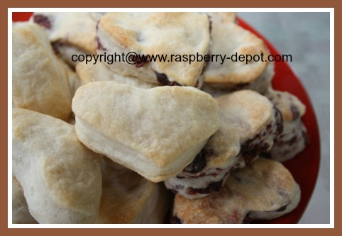Heart Shaped Food Biscuits Made with Baking Powder