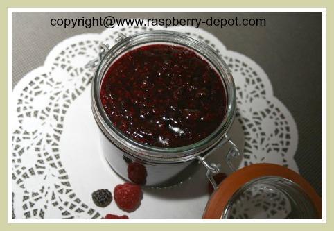 Homemade Black Raspberry Sauce