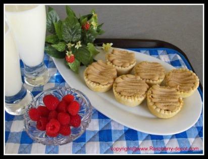 Raspberry Maple Tarts made with raspberry jam