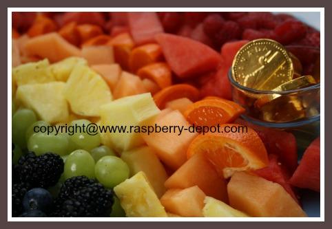 Rainbow Fruit Tray DIY for Bridal Shower /Wedding Shower or Baby Shower