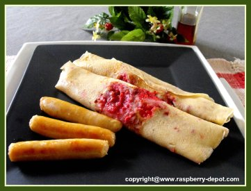 Favorite Raspberry Pancakes Recipe with Fresh or Frozen Fruit Dutch Pancakes