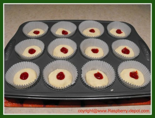 Making Raspberry Tarts with jam centers