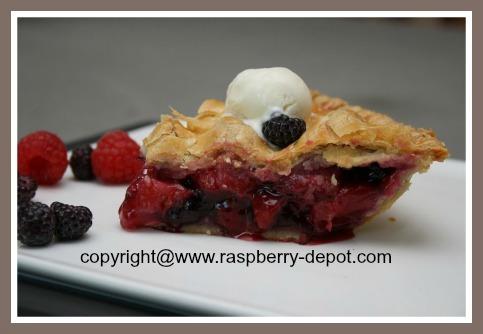 Fresh Strawberry Raspberry Blueberry Pie Recipe