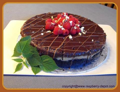 Chocolate Raspberry Cheesecake Recipe with Irish Cream Liqueur