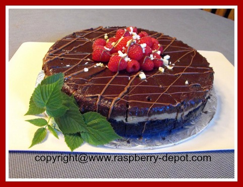 Raspberry Chocolate Cheesecake with Irish Cream